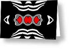 Minimalism Black White Red Art No.174. Greeting Card