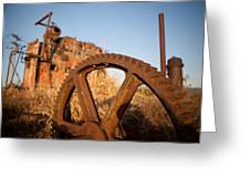 Mining Artefacts Historical Antique Machinery Greeting Card by Dirk Ercken
