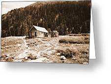 Mining House In Black And White Greeting Card