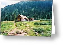 Mining House Greeting Card