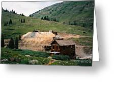 Mining In Anamas Forks Greeting Card
