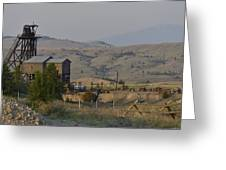 Mining In Butte Greeting Card