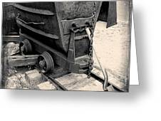 Mining Ore Cart Greeting Card