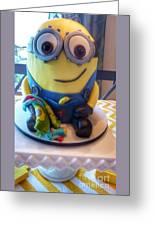 Minion Dessert Cake Greeting Card