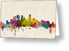 Minneapolis Minnesota Skyline Greeting Card