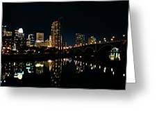 Minneapolis Night Skyline Greeting Card