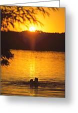 Minneapolis Sunset Love Greeting Card