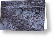 Minnehaha Falls In Fog Greeting Card