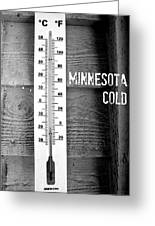 Minnesota Cold Greeting Card