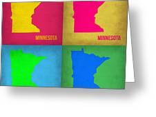 Minnesota Pop Art Map 1  Greeting Card