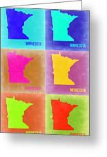 Minnesota Pop Art Map 2 Greeting Card
