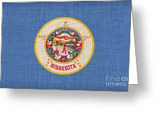Minnesota State Flag Greeting Card by Pixel Chimp