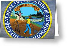 minnesota state seal greeting card