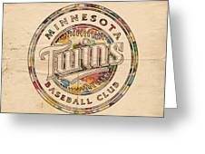 Minnesota Twins Logo Vintage Greeting Card