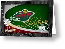 Minnesota Wild Christmas Greeting Card