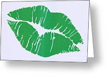 Mint Green Kiss Greeting Card
