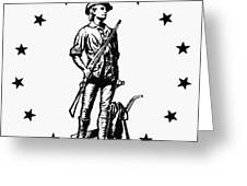 Minuteman Greeting Card