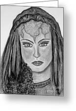 Mirabella Black White Greeting Card