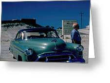 Miracle Mile Oldsmobile Greeting Card