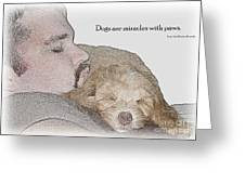 Miracles With Paws Greeting Card