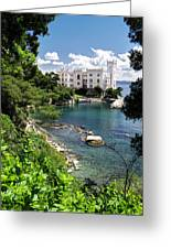 Miramare Castle Beach Greeting Card