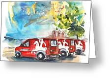 Miranda Do Douro Post Cars Greeting Card
