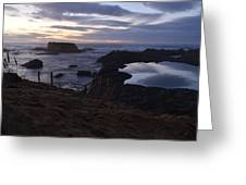 Mirror At Glass Beach Greeting Card