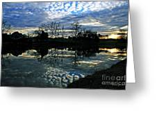 Mirror Image Clouds Greeting Card