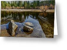Mirror Lake Threesome Yosemite Greeting Card