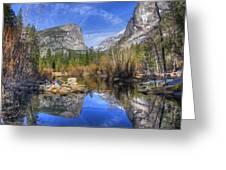 Mirror Lake Yosemite Autumn Greeting Card