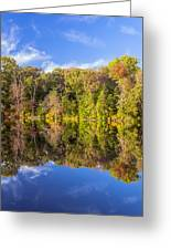 Mirror Reflections Of Fall Greeting Card