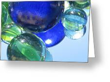 Mirrored Marbles Greeting Card