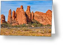 Misfit Rock Formations Greeting Card