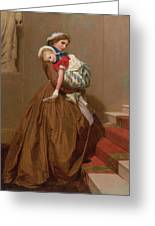 Miss Lilys Return From The Ball, 1866 Greeting Card