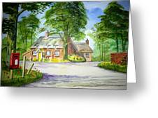 Miss Marples Cottage  St Mary-meade Greeting Card by Ian Scott-Taylor
