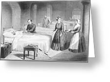 Miss Nightingale In The Hospital Greeting Card