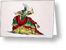 Miss Sainval As Zenobie In Zenobie Greeting Card