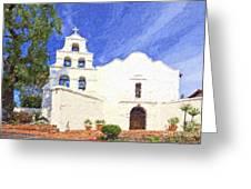 Mission Basilica San Diego De Alcala Usa Greeting Card