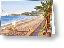 Mission Beach San Diego Greeting Card by Mary Helmreich