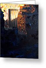 Mission Door At Sunset Greeting Card