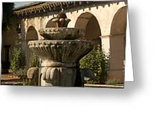 Mission Fountain Greeting Card
