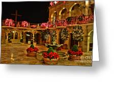 Mission Inn Christmas Chapel Courtyard Greeting Card