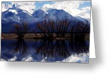 Mission Mountains Mission Valley Greeting Card