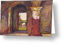Mission Of San Juan Capistrano By Rowena Meeks Abdy 1887-1945  Greeting Card