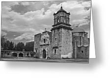 Mission San Jose Bw Greeting Card