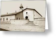 Mission San Luis Obispo Circa 1890 Greeting Card