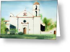 Mission San Luis Rey Dreamy Greeting Card by Kip DeVore