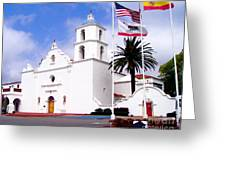 Mission San Luis Rey Greeting Card