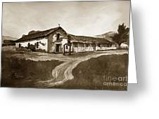 Mission San Rafael California  Circa 1880 Greeting Card
