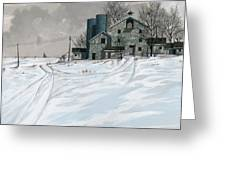 Mission Valley Farmstead Greeting Card by John Wyckoff